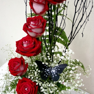 Cascading Roses from Floralia - the best flower shop in Limerick