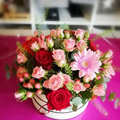 Hat Box Flowers from Floralia - the best flower shop in Limerick
